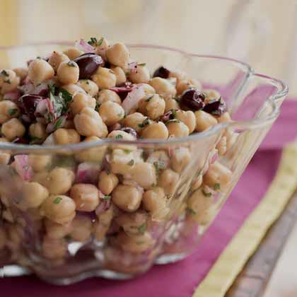 Chickpea Salad with Provençal Herbs and Olives