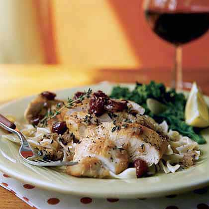 Chicken in Cherry Marsala Sauce
