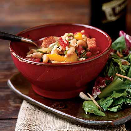 Andouille Rice and White Beans