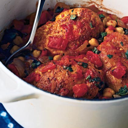 Tagine of Chicken and Chickpeas