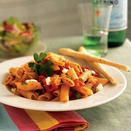 Penne with Triple-Tomato Sauce