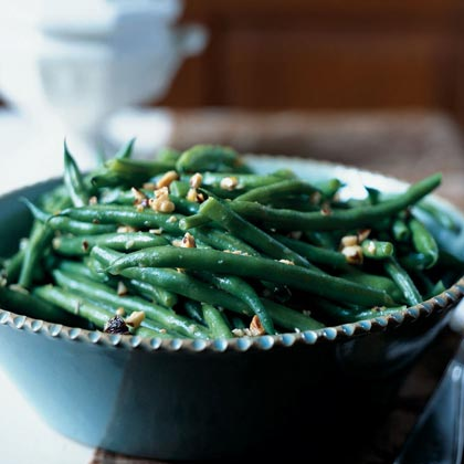 Green Beans with Toasted Hazelnut-Lemon Butter