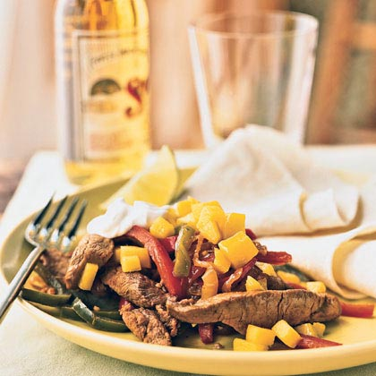 Pork Fajitas with Mango