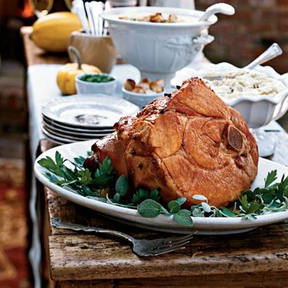 Apricot and Sherry-Glazed Ham