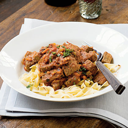 Roasted Tomato–Beef Goulash with Caraway