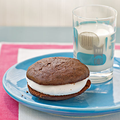 Chocolate Sandwich Cookies with Marshmallow Cream Filling
