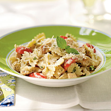 Grilled Chicken and Pesto Farfalle