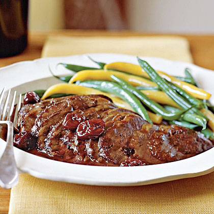 Duck Breasts with Pinot Noir and Cherry Sauce