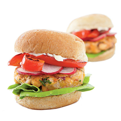 Middle Eastern Chickpea Miniburgers