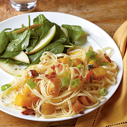 Bacon and Butternut Pasta