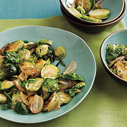 Sautéed Brussels Sprouts and Shallots