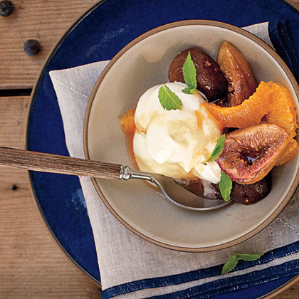 Honey-Baked Black Mission Figs with Orange and Ginger