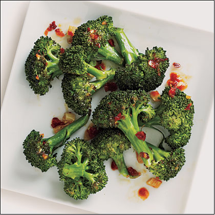 Roasted Chile-Garlic Broccoli