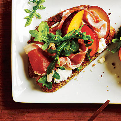 Open-Faced Prosciutto and Plum Sandwiches