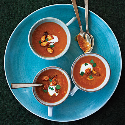 Indian-Spiced Roasted Squash Soup