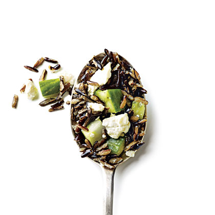 Wild Rice with Cucumber and Feta