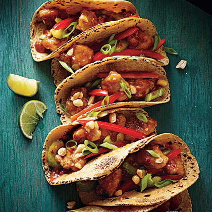 Kung Pao Chicken Tacos