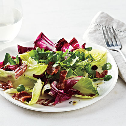 Endive and Watercress Salad with Bacon-Cider Dressing