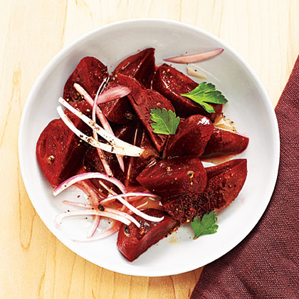 Beets with Shallot Vinaigrette