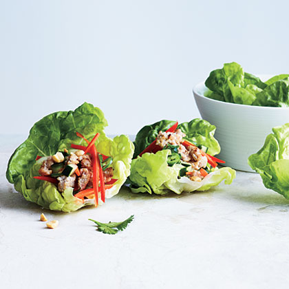Spicy Pork Lettuce Cups