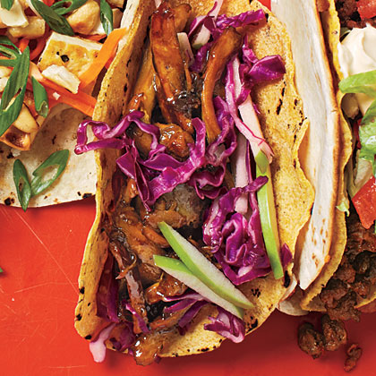 Beer-Braised Chicken Tacos with Cabbage Slaw