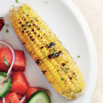 Garlic-Lime Grilled Corn