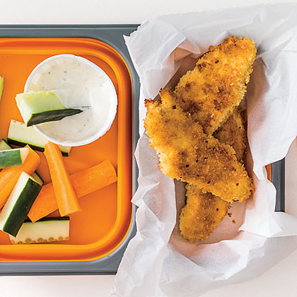Crispy Pan-Fried Chicken with Ranch Dipping Sauce