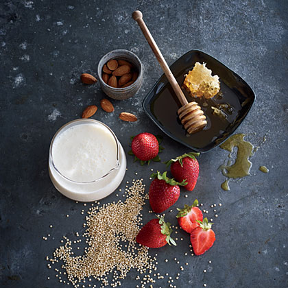 Quinoa with Strawberries and Buttermilk