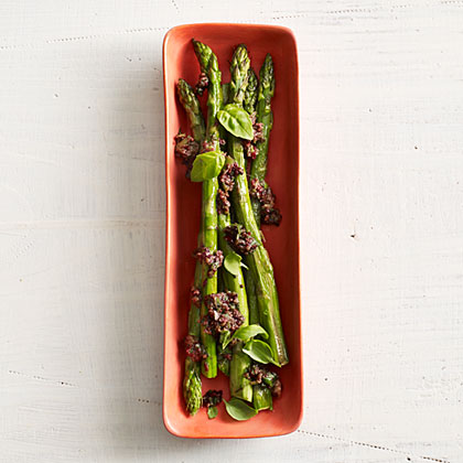 Asparagus with Olive Tapenade
