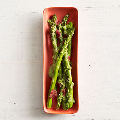 Asparagus with Peas and Prosciutto