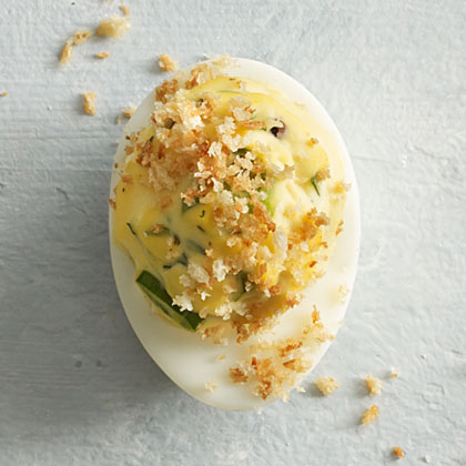 Herb and Crumb Deviled Eggs