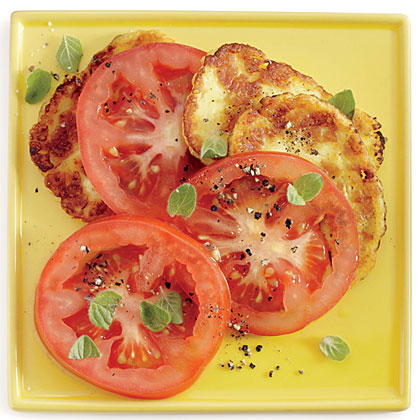 Tomato Salad with Halloumi and Oregano