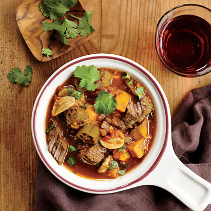 West African Beef, Plantain, and Okra Stew