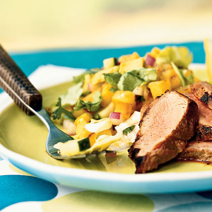 Grilled Pineapple and Avocado Salad