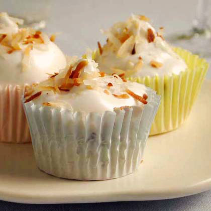 Chocolate Chip Angel Cupcakes with Fluffy Frosting