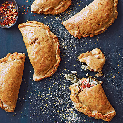 Feta and Spinach Calzones