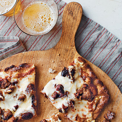 Sausage and Black Olive Pizza