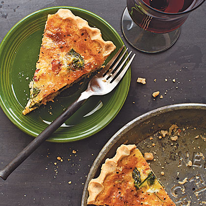 Spinach, Bacon, and Cheese Quiche