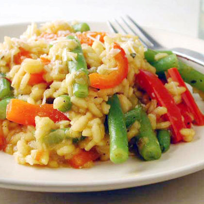 Sweet Pepper and Green Bean Risotto