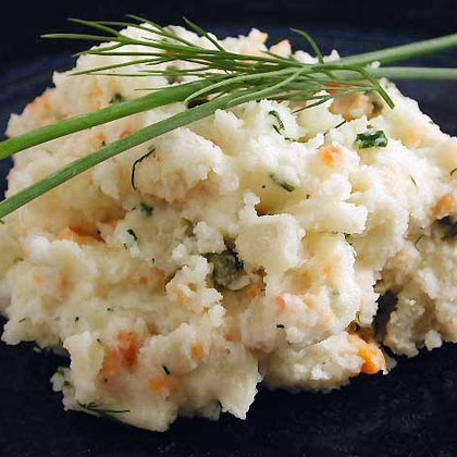 Smoked Salmon and Chive Mashed Potatoes