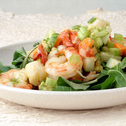 Seafood Avocado Salad with Ginger
