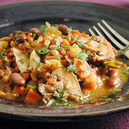 Wheat Berry, Black Bean, and Vegetable Stew