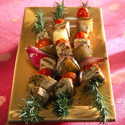 Rosemary-skewered Swordfish
