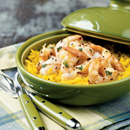 Coconut Shrimp and Rice Pilaf