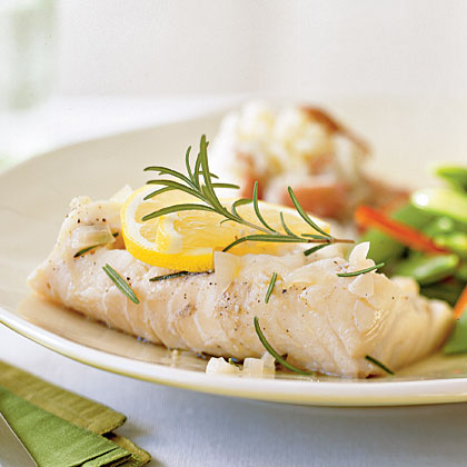 Rosemary-infused Cod
