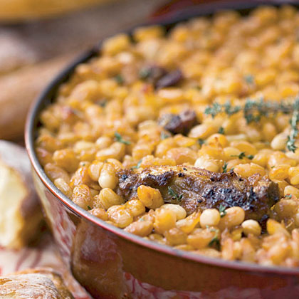 Cassoulet with Bacon, Andouille, and Country Ribs