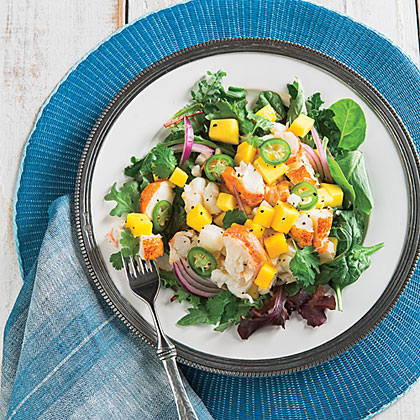 Lobster Salad with Mango and Red Onion