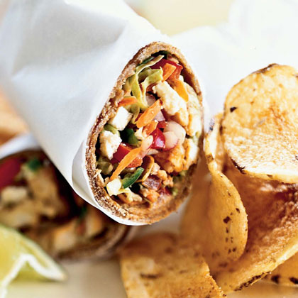 Spiced Fish Wraps with Chile-Lime Slaw