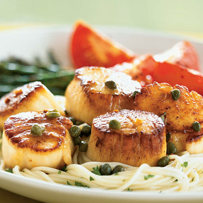 Scallops with Caper and Brown Butter Sauce