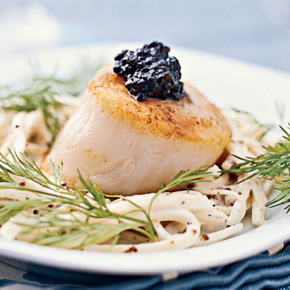 Scallops with Celery Root Salad